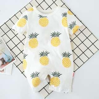 🚚 KOR093 Baby Boys Pineapple Coveralls Romper