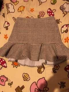 banana baby wool blend skirt england style