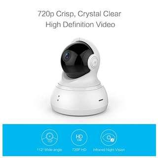 YI Dome Camera Pan/Tilt/Zoom Wireless IP Indoor Security Surveillance System 720p HD Night Vision, Motion Tracker, Auto-Cruise -----  1142