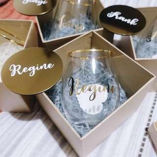 Personalised gift (drinking glass)