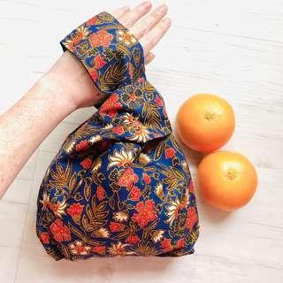 Batik Mini Knot Bag Handmade in Singapore