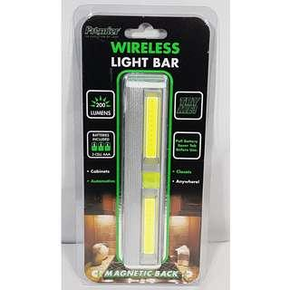 WIRELESS LIGHT BAR BATTERIES INCLUDED 200 LUMENS MAGNETIC MOUNT #74412