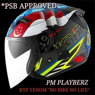 *PSB APPROVED KYT VENOM MY/SG HELMET..😎!!