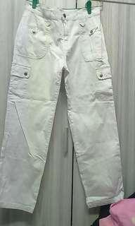 Denim jeans white color