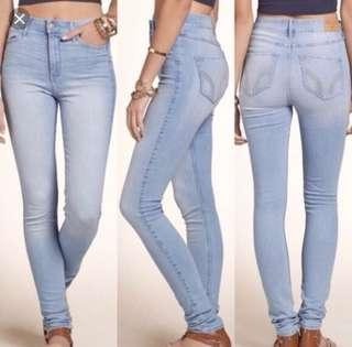 High waisted hollister jeans