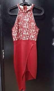 Red modern cheongsam #cnycs #cnyred