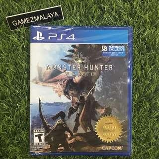 [NEW] PS4 MONSTER HUNTER WORLD R1 - ACCEPT TRADE-IN   NEW PS4 GAMES (GAMEZMALAYA)