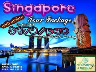 Singapore all in tour package holy week period 2019