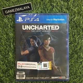 [NEW] PS4 UNCHARTED THE LOST LEGACY R3 - ACCEPT TRADE-IN   NEW PS4 GAMES (GAMEZMALAYA)
