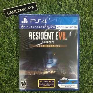 [NEW] PS4 RESIDENT EVIL 7 GOLD EDITION R1 - ACCEPT TRADE-IN   NEW PS4 GAMES (GAMEZMALAYA)