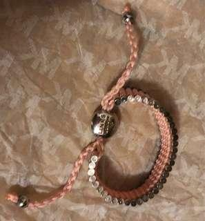 Links of London silver and pink bracelet