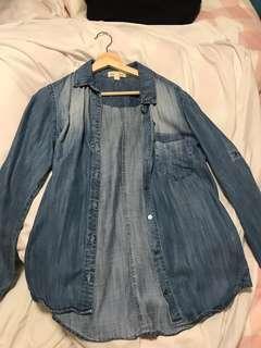Cloth and stone denim shirt