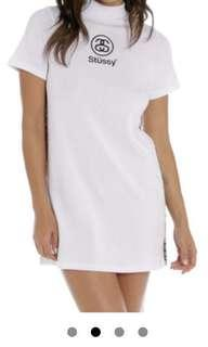 Stussy white turtle neck dress