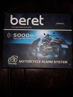Beret motorcycle alarm system