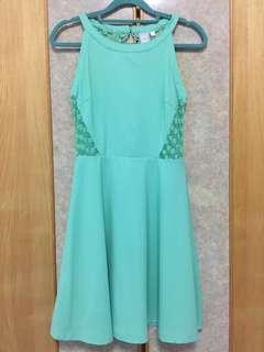 Dress light green colour