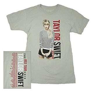 TAYLOR SWIFT SHIRT Silver Stripes Tour Tee