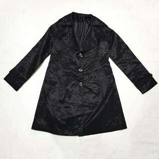 ☇LP☇Shiny Black Trench Coat