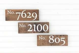 Wooden Signage House No-Pre order