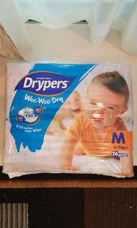 Drypers - M size (74pc's)