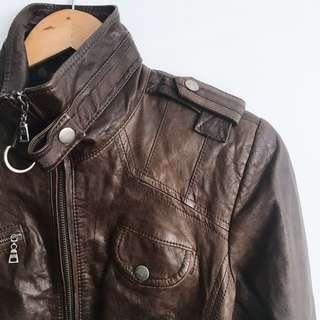 Danier Italian Leather Willow Moto Jacket - Size xxs