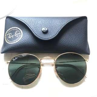 Authentic Ray-Ban sunglasses (round gold green)