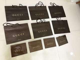 🚚 Gucci 專櫃 正品 紙袋 紙盒 防塵袋 壓紋 送禮 多樣商品 請看敘述 包裝盒 禮物盒  Gucci marmont 緞帶 空盒