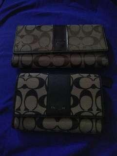 AUTHENTIC COACH LONG AND SHORT WALLET