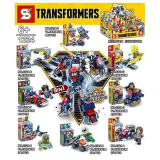 SY™1224 Transformers 8in1 Minifigures Optimus Prime Combine Mech
