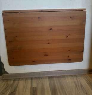 IKEA Norbo Solid Wood Wooden Wall Mount Drop Leaf Table