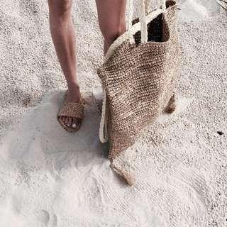 Hope & May Straw Beach Sandals