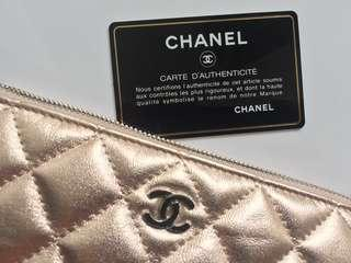 Authentic Chanel Pouch Calfskin