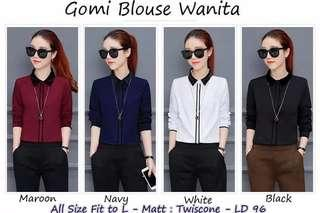 Best quality Gome baju atasan blouse wanita MATT : twiscone LD : 102   VARIASI KANCING MODEL BUNGA