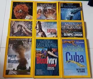 National Geographic Magazines 2012