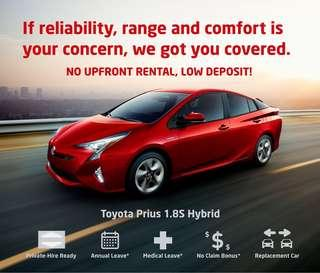 Toyota Prius S Hybrid - Car Rental for Private Hire/Grab