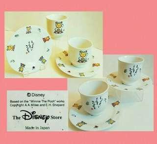 罕有日版:迪士尼维尼熊瓷杯碟2套 (收藏品)