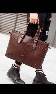 🚚 Instock! Mens brown formal office laptop bag