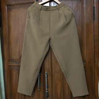 Angkle pants mustard