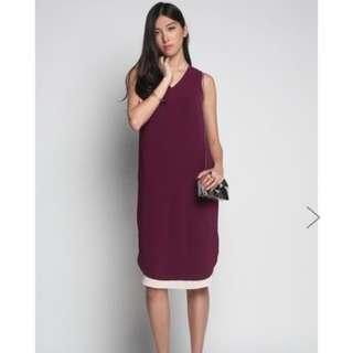 Love Bonito filana midi dress in burgundy size XS
