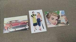 Vintage Poster & Car Plate Sticker Sets