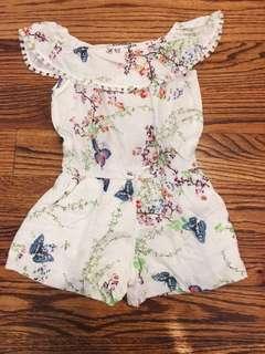 Zara kids girls romper jumpsuit butterfly print