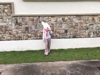 Freepostage > Dusty pink palazo #CNY888