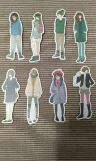 Girl Stickers Set A to D