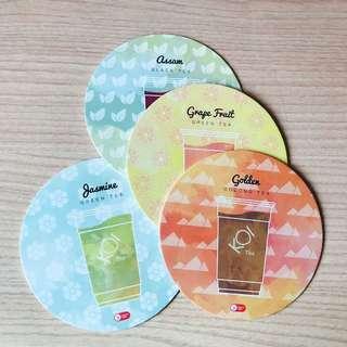 Koi Cafe Coasters