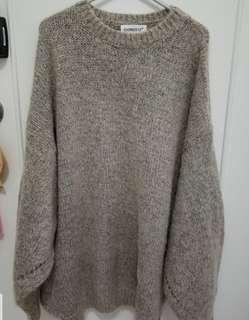 啡色冷衫 Oversized sweater