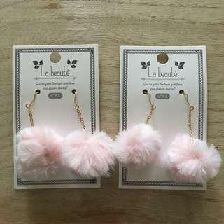 Pastel Pink Fancy earrings