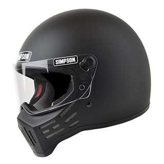 Simpson M30 Motorbike Motorcycle Full Face Helmet Matte Flat Black or Gloss Black SIZE SMALL MEDIUM LARGE X-LARGE XX-LARGE