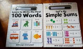 🚚 Wipe clean English math book preschooler