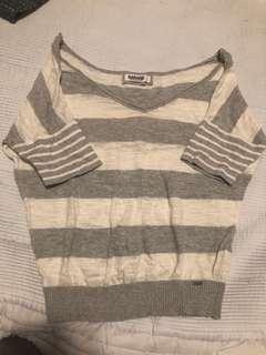 Garage knit v neck shirt