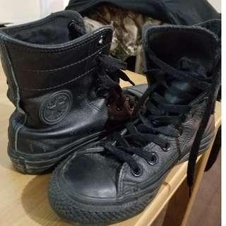 High Rise Boot - Converse - Leather - Black - Size 5.5