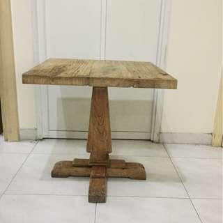 Rustic old oak wood table
